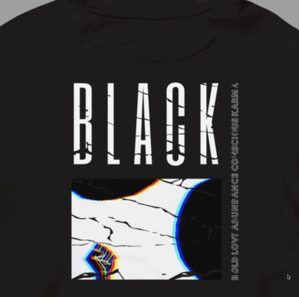 Blak collection hoodie Back view