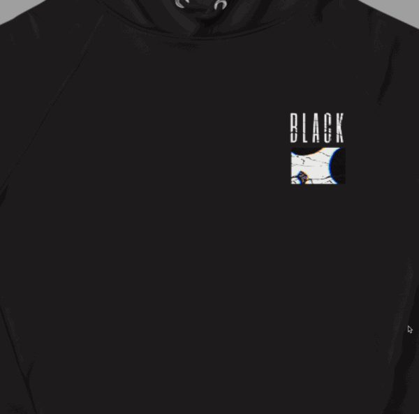 Blak collection hoodie front view