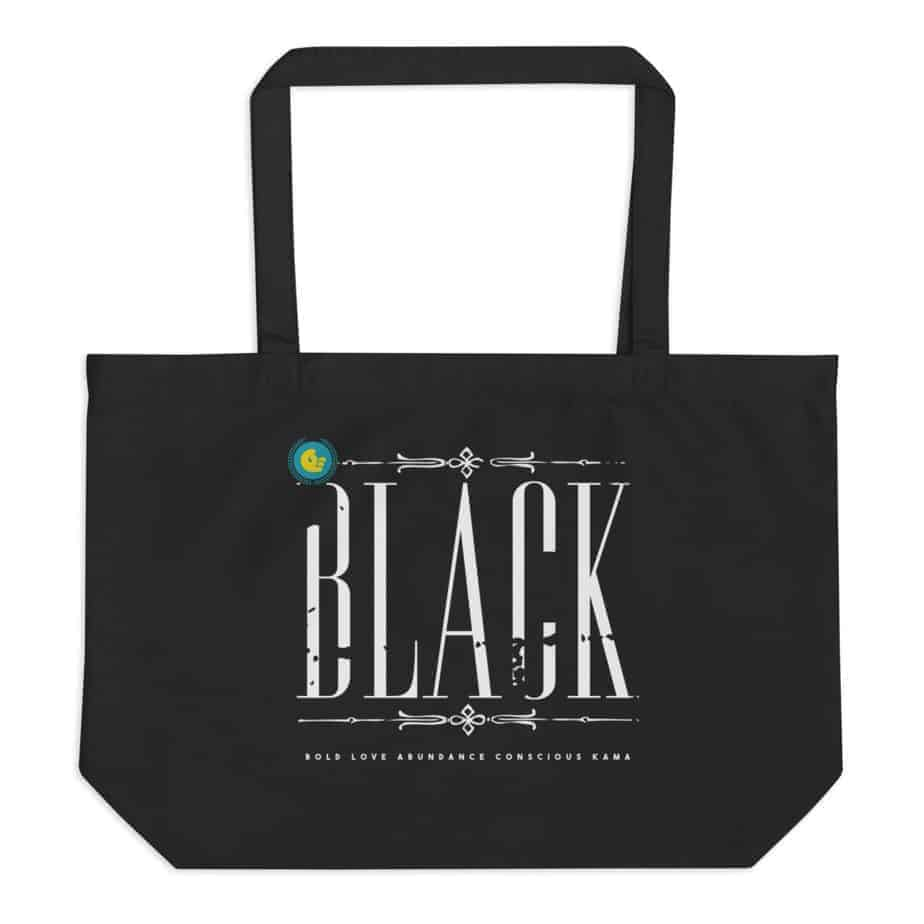 large eco tote black 5ff092879dc4e