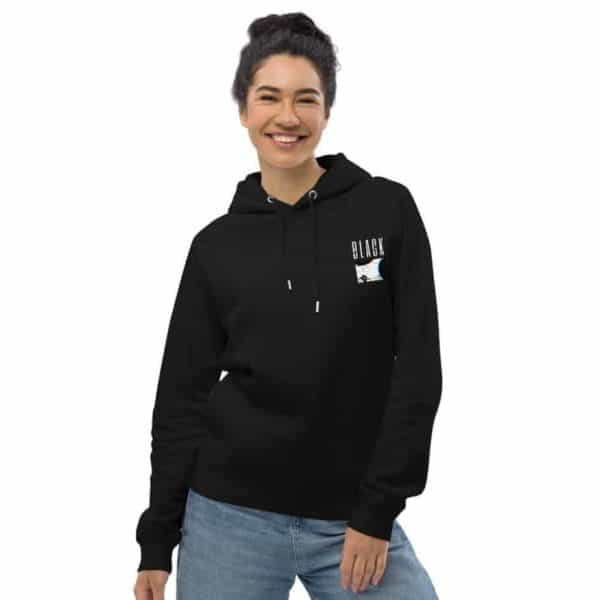 black collection hoodie,female