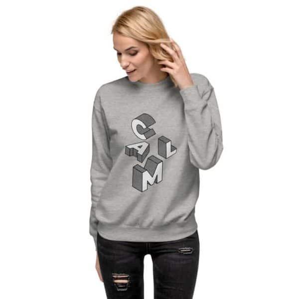 unisex fleece pullover carbon grey 5ff77befcd99d