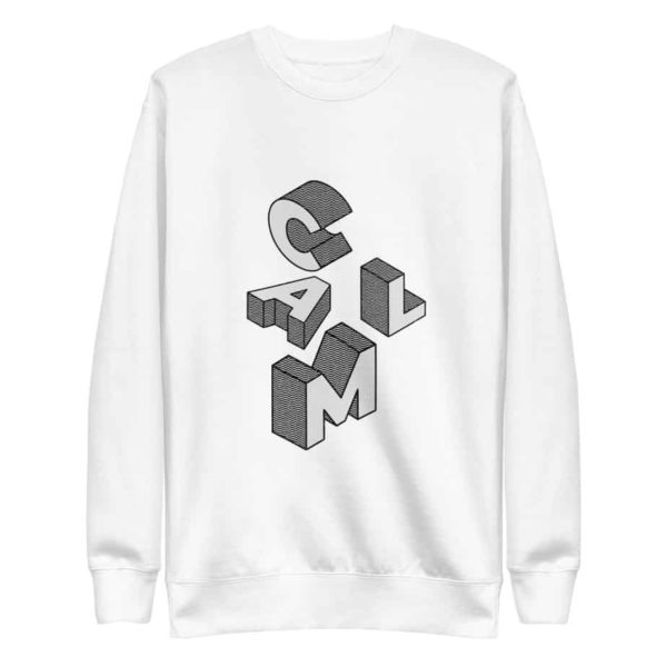 unisex fleece pullover white 5ff77befcdb85