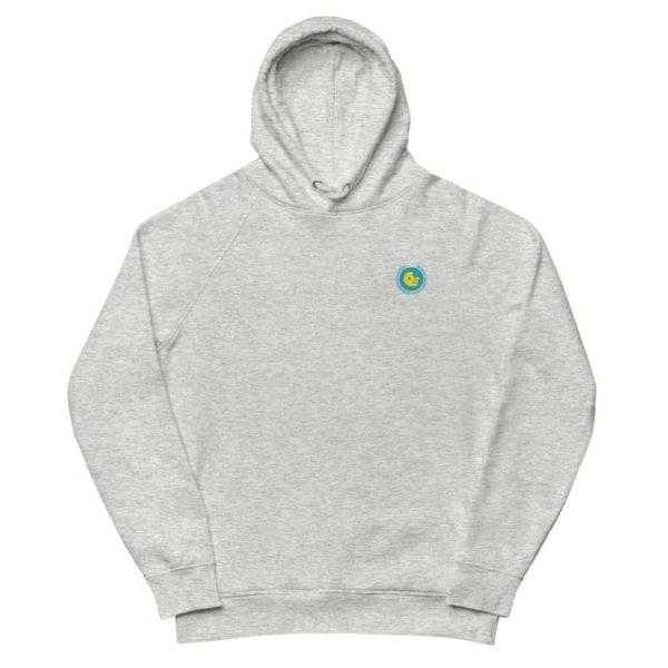 unisex eco hoodie heather grey front 601aeb5d6f1c2