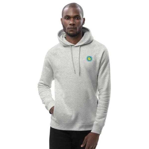 unisex eco hoodie heather grey front 601aeb5d6f3e2