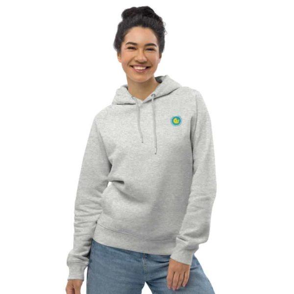 unisex eco hoodie heather grey front 601aec26524ec