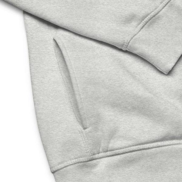 unisex eco hoodie heather grey product details 601aec26525c5