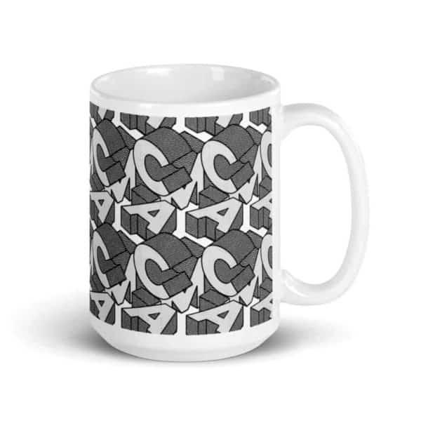 white glossy mug 15oz handle on right 602ee92dbebec