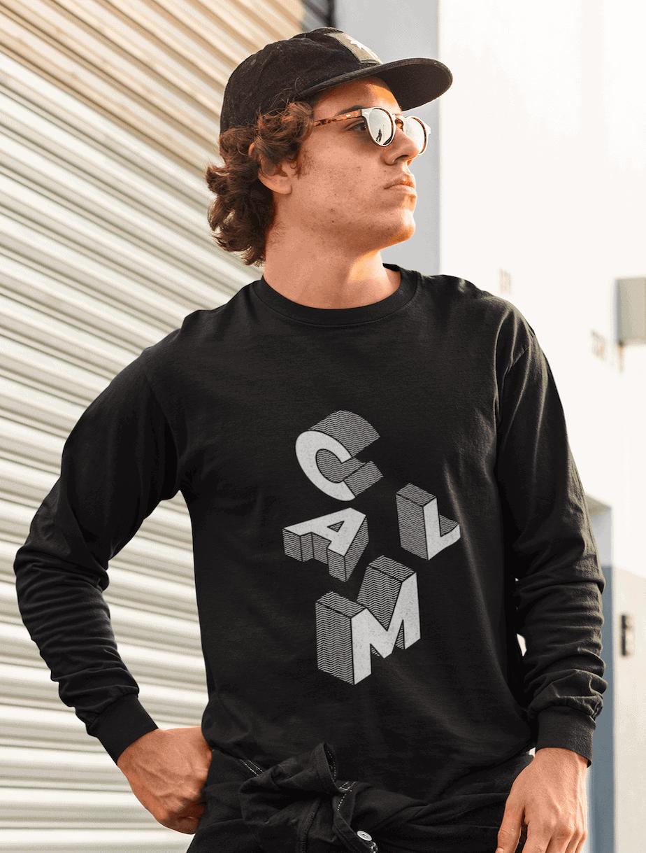 calm pullover collection consciousbuzz man