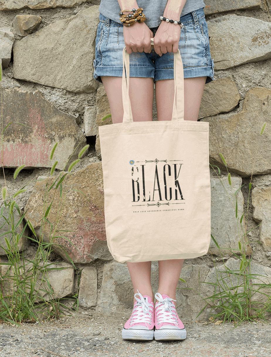 black collection tote bag unisex